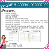 Reading Skills Graphic Organizers with Constructed Response Questions