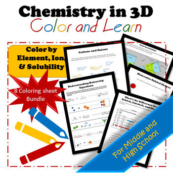 *BUNDLE* Solubility, Cations, Ionic Compounds, and Balancing Chemical Equations