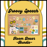 ~BUNDLE~ Speech Therapy Room Decor - Groovy/Retro theme for SLPs