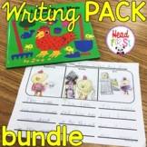BUNDLE Editable First Grade Writing Prompts, Journals, Seasonal Paper