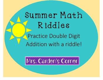 *BUNDLE* Summer Math Riddles