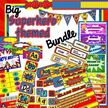 *BUNDLE* - Superhero Themed Classroom Decor