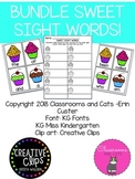 **BUNDLE** Sweet Sight Words -first 4 100 FRY lists