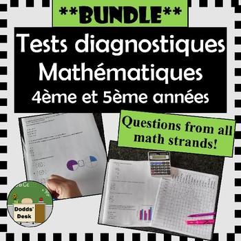 **BUNDLE** Tests diagnostiques de mathématiques pour 4ème et 5ème années (Math)