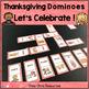 Dominoes - Thanksgiving Vocabulary BUNDLE