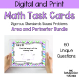 *Bundle* Third Grade Area and Perimeter Task Cards / Google Classroom