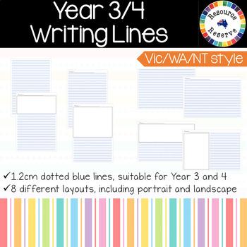 {BUNDLE} Handwriting Lines - Vic/WA/NT