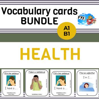 *BUNDLE* Vocabulary cards : Body & Health