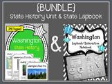 {BUNDLE} Washington State History Unit and Lapbook and Interactive Notebook