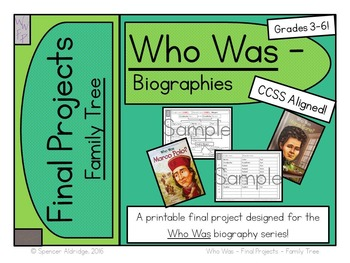 *BUNDLE* Who Was Biography Series Final Projects - Fill-in Graphic Organizers