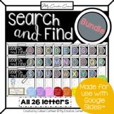 [BUNDLE] Whole Alphabet Digital Search and Find Kindergart