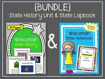 {BUNDLE} Wisconsin State Notebook Project & Wisconsin State History Unit