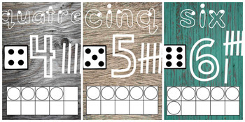 *BUNDLE* Wood Panel Number Visuals French & English