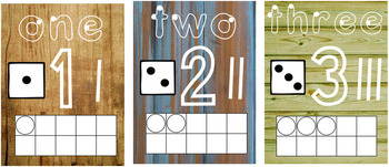 Wood Panel Number Visuals French & English