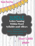 *BUNDLE* Words Their Way: Letter Name AND Within Word
