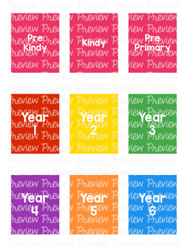 *BUNDLE* Year / Grade Level Spine Labels - Avery A4 L7651