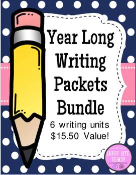 **BUNDLE** Year Long Writing Packets