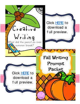 **BUNDLE** Year Long Writing Packets