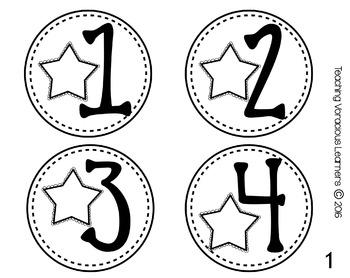 *BUNDLED* Classroom Number and Letter Labels