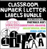 *BUNDLED* Classroom Number and Letter Bulletin Board Labels