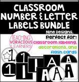 *BUNDLED* Classroom Number and Letter Labels