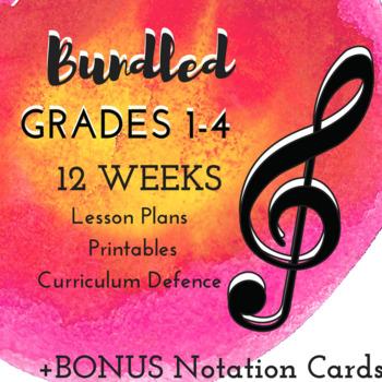 *BUNDLED* Grade 1-4 *MUSIC* Lessons