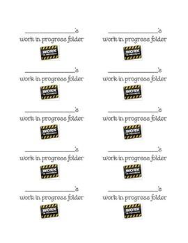 {BUNDLED} Student Folder/ Notebook Labels