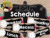 {BURLAP, TEAL, CORAL, CHALKBOARD} Editable Schedule Cards
