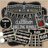 {BURLAP, TEAL, YELLOW, CHALKBOARD} EDITABLE BUNDLE!