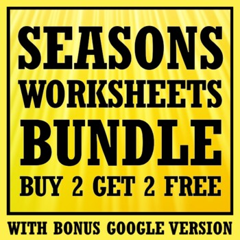 *BUY 2 GET 1 FREE*  Seasons Worksheet Bundle (Middle School)