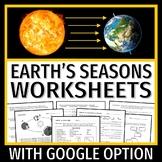 BUY 2 GET 1 FREE Earth's Tilt Seasons Worksheet Bundle NGSS MS-ESS1-1