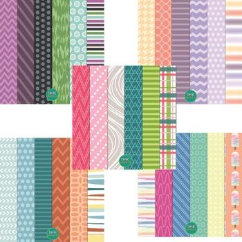 Digital Paper and Frame Bundle- Summer