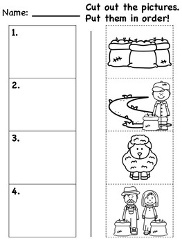 """Baa Baa Black Sheep"" Differentiated Literacy Activities [no prep!]"