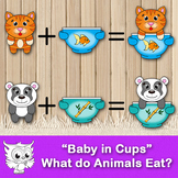 """Babies in Cups"" What do animals eat?"