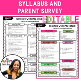 *Back To School* Parent Guardian Survey for Syllabus
