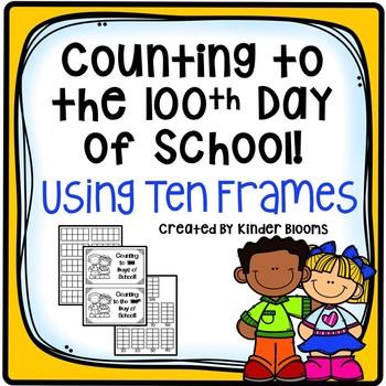 {Back-to-School} 100th Day of School Ten Frame Tracker