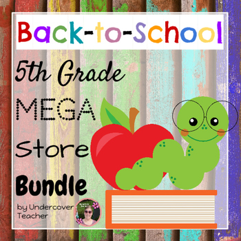 (Back to School) 5th {Fifth} Grade Mega Store Growing Bundle