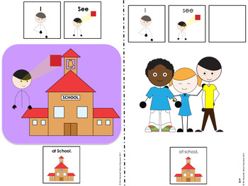 Back to School Adapted Books and Emergent Readers for Autism and Special Ed