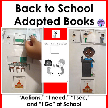 Back to School Core Word Adapted Books and Emergent Readers Special Education