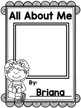 { Back to School } All About Me Book
