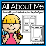 { Back to School } All About Me Book - Now Editable!