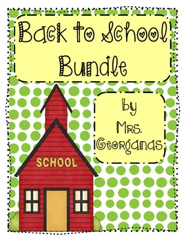 {Back to School} Bundle
