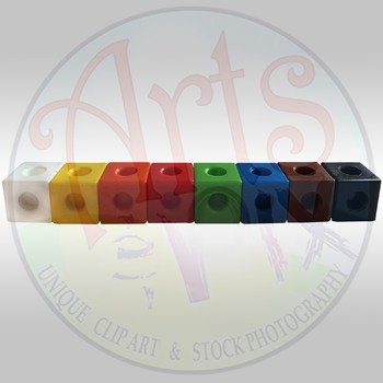 """""""Back to School"""" Clipart Stock Photo - Math Manipulatives - Connecting Cubes"""