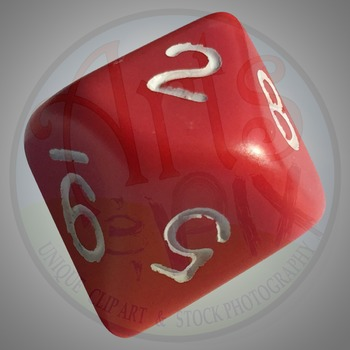 """""""Back to School"""" Clipart Stock Photo of 10 Sided DIE"""