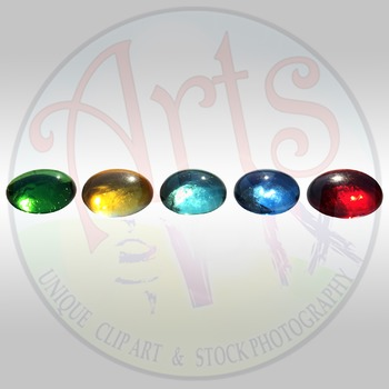 """Back to School"" Clipart Stock Photo of Colored GEMS"