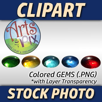 """""""Back to School"""" Clipart Stock Photo of Colored GEMS"""