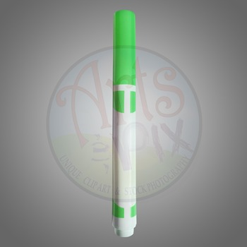 """Back to School"" Clipart Stock Photo of a Green MARKER"