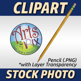 """Back to School"" Clipart Stock Photo of a Pencil"