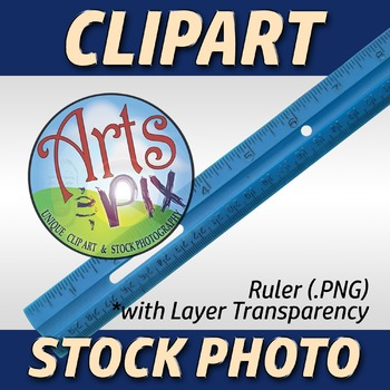 """! """"Back to School"""" Clipart Stock Photo of a RULER"""
