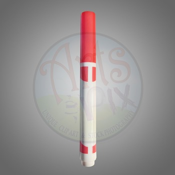 """Back to School"" Clipart Stock Photo of a Red MARKER"